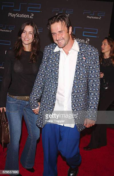 Courteney Cox Arquette and David Arquette at an exclusive party hosted by Sony Computer Entertainment America to celebrate the oneyear anniversary of...