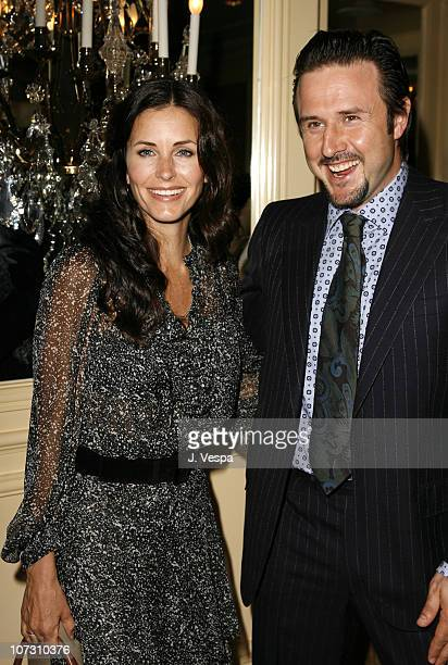 Courteney Cox Arquette and David Arquette during AFI Honors Hollywood's Arquette Family With The Sixth Annual 'Platinum Circle Awards' Green Room and...