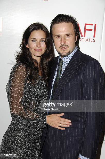 Courteney Cox Arquette and David Arquette during AFI Honors Hollywood's Arquette Family With The Sixth Annual 'Platinum Circle Award' Arrivals in Los...