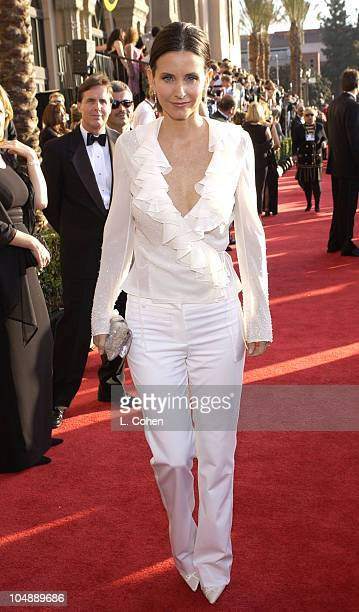 Courteney Cox Arquette during 9th Annual Screen Actors Guild Awards Arrivals at Shrine Exposition Center in Los Angeles California United States