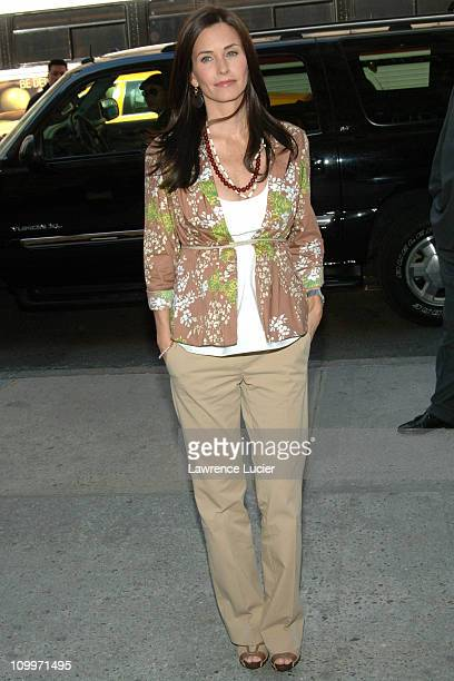 Courteney Cox Arquette during Courteney Cox Appears Outside Sephora - April 12, 2005 at Sephora 48th St. In New York City, New York, United States.