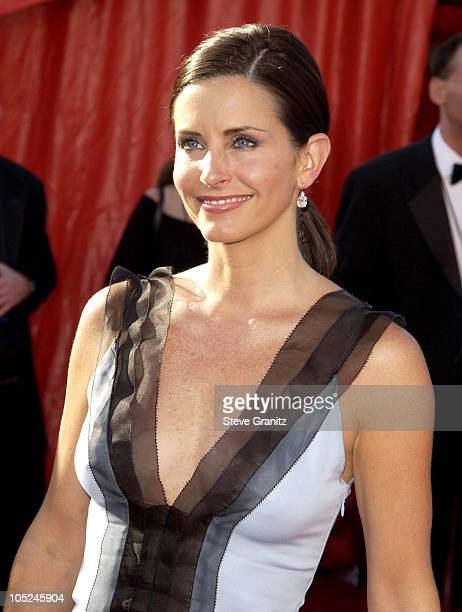 Courteney Cox Arquette during The 55th Annual Primetime Emmy Awards Arrivals at The Shrine Theater in Los Angeles California United States