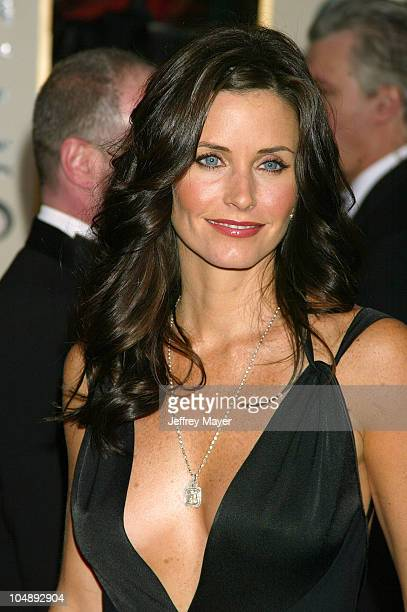 Courteney Cox Arquette during The 60th Annual Golden Globe Awards Arrivals at The Beverly Hilton Hotel in Beverly Hills California United States