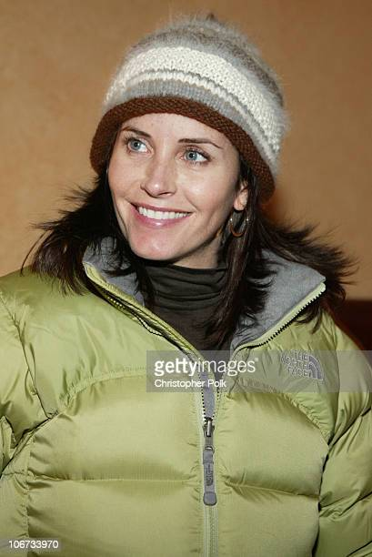Courteney Cox Arquette during The North Face Hush Puppies New Era Cap Avion Atkins Lather Invigor 8 and Crest White Strips at Deer Valley Private...