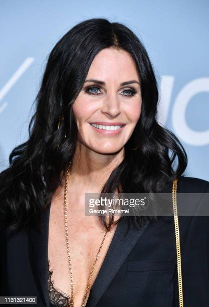Courteney Cox arrives at the 2019 Hollywood For Science Gala at Private Residence on February 21 2019 in Los Angeles California
