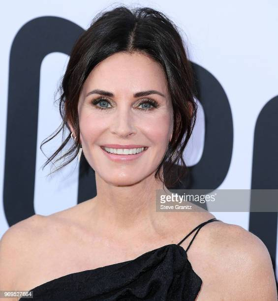 Courteney Cox arrives at the American Film Institute's 46th Life Achievement Award Gala Tribute To George Clooney on June 7 2018 in Hollywood...