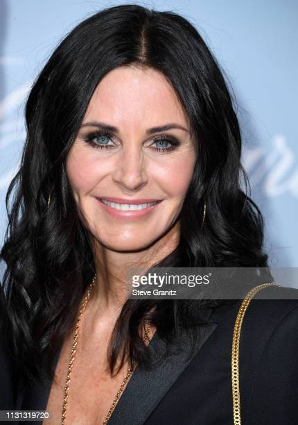 Courteney Cox arrives at the Hollywood For Science Gala at Private Residence on February 21 2019 in Los Angeles California