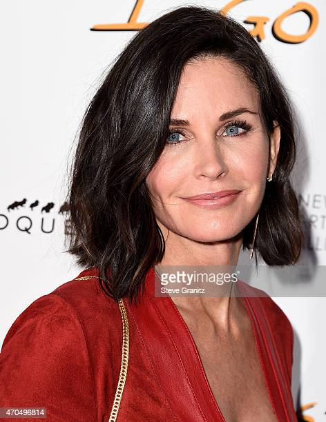 Courteney Cox arrives at the Just Before I Go Los Angeles Special Screening at ArcLight Hollywood on April 20 2015 in Hollywood California