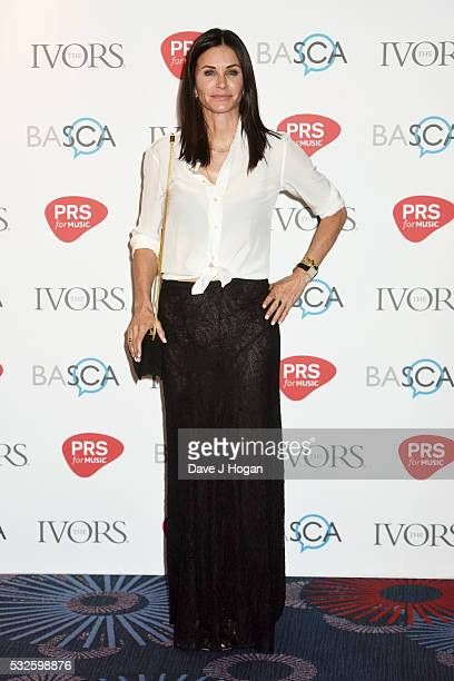 Courteney Cox arrives for the Ivor Novello Awards at Grosvenor House on May 19 2016 in London England