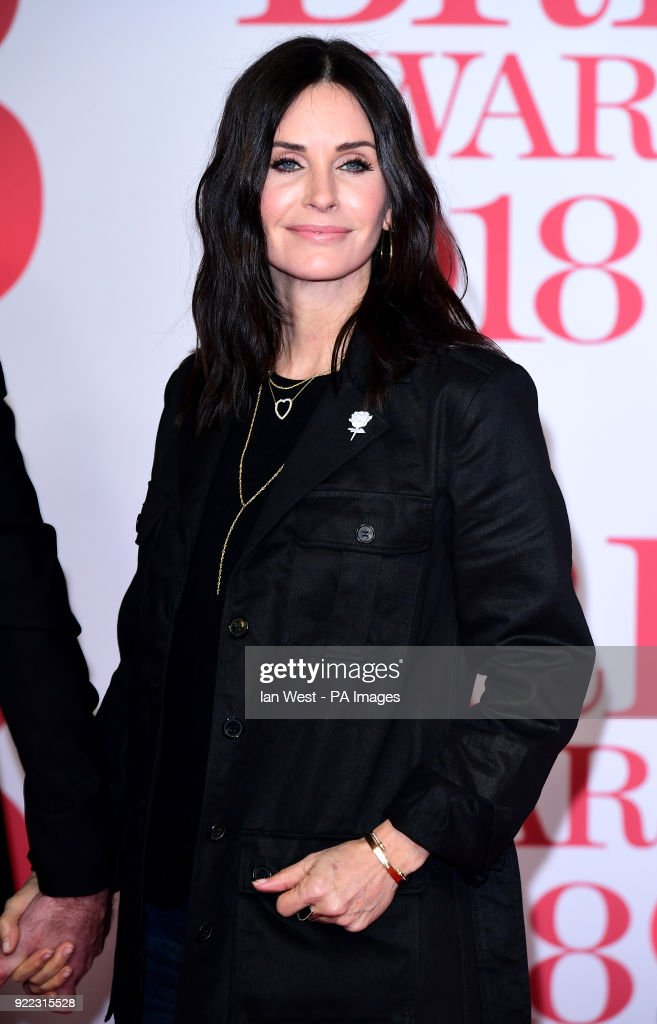 Courteney Cox attending the Brit Awards at the O2 Arena, London.