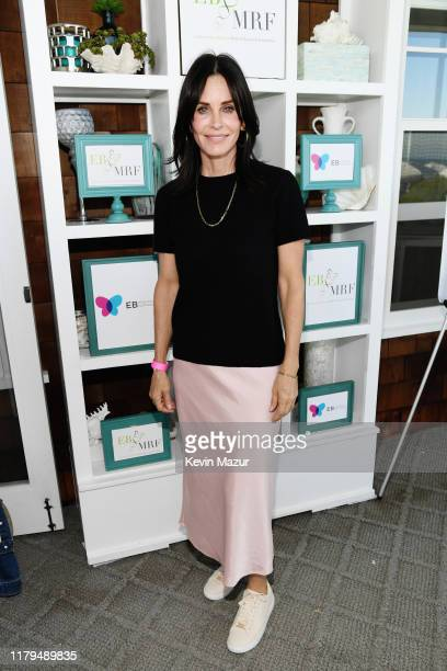 Courteney Cox attends ROCK4EB at Private Residence on October 06 2019 in Malibu California