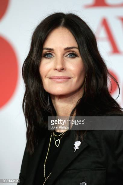 AWARDS 2018*** Courteney Cox attends The BRIT Awards 2018 held at The O2 Arena on February 21 2018 in London England