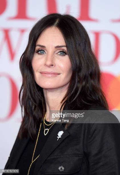 AWARDS 2018 *** Courteney Cox attends The BRIT Awards 2018 held at The O2 Arena on February 21 2018 in London England