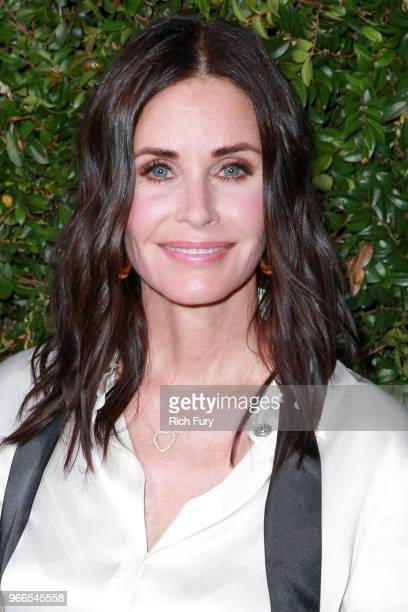 Courteney Cox attends the CHANEL Dinner Celebrating Our Majestic Oceans A Benefit For NRDC on June 2 2018 in Malibu California
