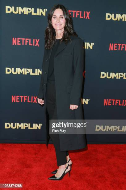 Courteney Cox attends the premiere of Netflix's 'Dumplin'' at TCL Chinese 6 Theatres on December 06 2018 in Hollywood California