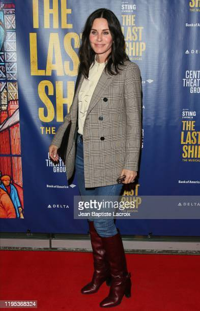 Courteney Cox attends the The Last Ship Opening Night Performance on January 22 2020 in Los Angeles California