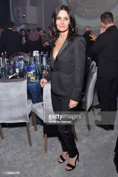 Courteney Cox attends the UCLA IoES honors Barbra Streisand and Gisele Bundchen at the 2019 Hollywood for Science Gala on February 21 2019 in Beverly...