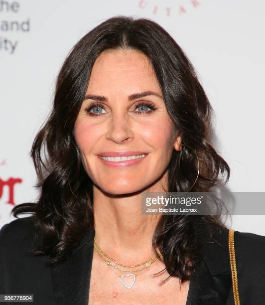 Courteney Cox attends UCLA's 2018 Institute of the Environment and Sustainability Gala on March 22 2018 in Beverly Hills California
