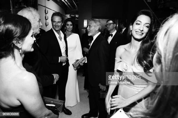 Courteney Cox, Bill Murray, Rande Gerber, Cindy Crawford, George Clooney, and Amal Clooney attend the American Film Institute's 46th Life Achievement...