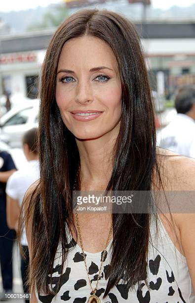 Courteney Cox during 'Barnyard' Los Angeles Premiere Arrivals at Cinerama Dome in Hollywood California United States