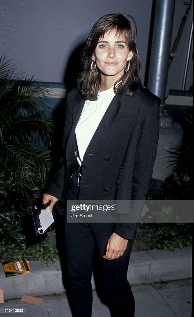 Courteney Cox during Starlight Foundation Benefit - September 22, 1988 at Ed Debevic's Restaurant in Beverly Hills, California, United States.