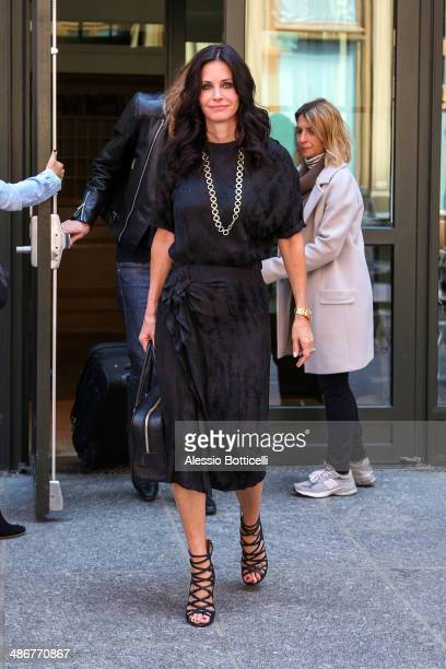 Courteney Cox is seen leaving her SoHo hotel on April 25 2014 in New York City