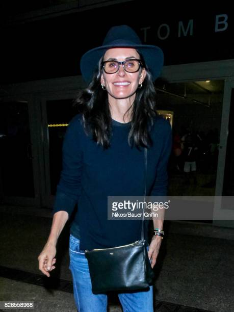 Courteney Cox is seen on August 04 2017 in Los Angeles California