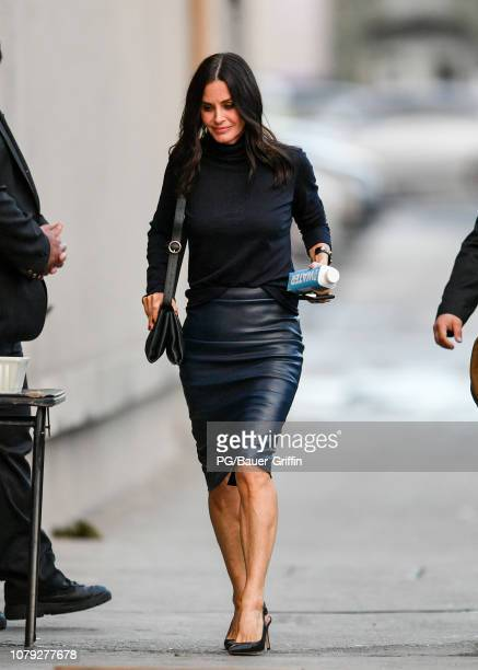 Courteney Cox is seen on January 07 2019 in Los Angeles California