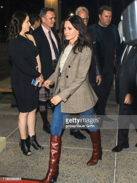 Courteney Cox is seen on January 22 2020 in Los Angeles California