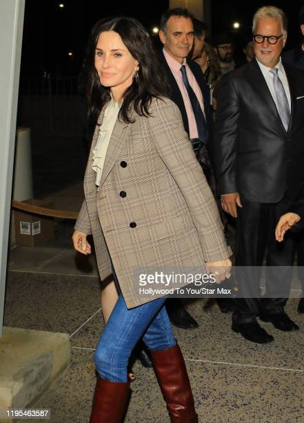 Courteney Cox is seen on January 23 2020 in Los Angeles