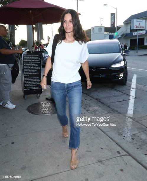 Courteney Cox is seen on July 23, 2019 at Los Angeles.