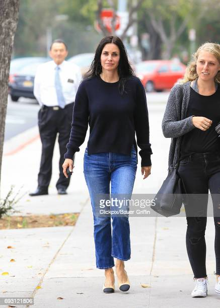 Courteney Cox is seen on June 06 2017 in Los Angeles California