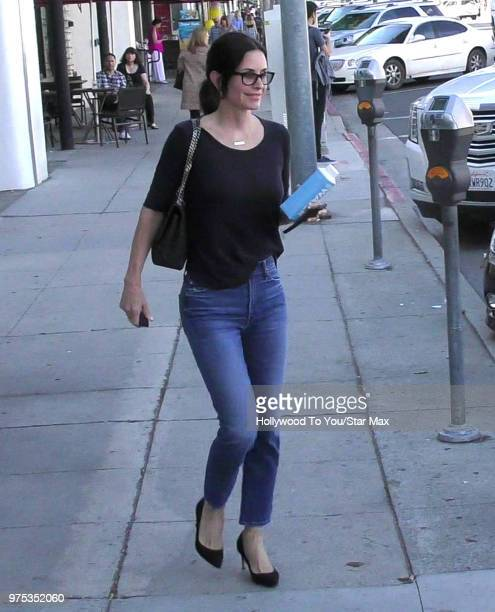 Courteney Cox is seen on June 14 2018 in Los Angeles California