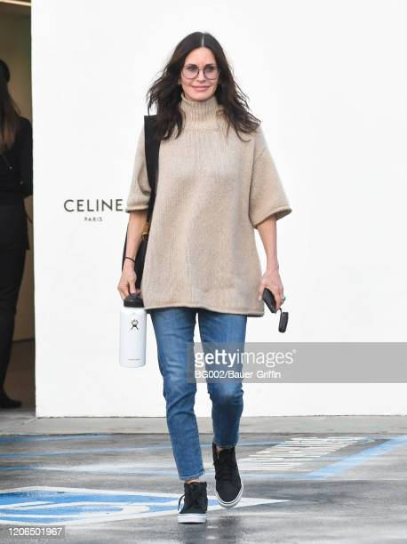 Courteney Cox is seen on March 10 2020 in Los Angeles California