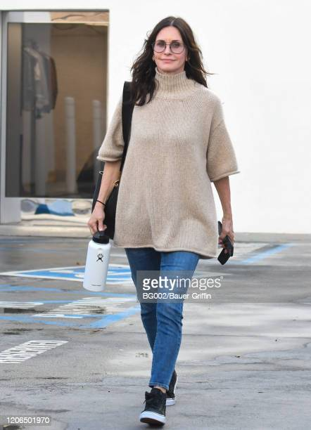 Courteney Cox is seen on March 10, 2020 in Los Angeles, California.