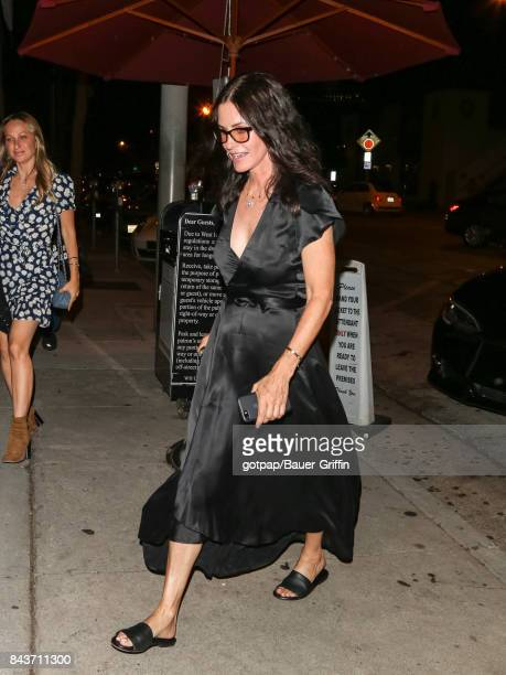 Courteney Cox is seen on September 06 2017 in Los Angeles California