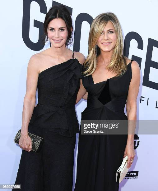 Courteney Cox Jennifer Aniston arrives at the American Film Institute's 46th Life Achievement Award Gala Tribute To George Clooney on June 7 2018 in...