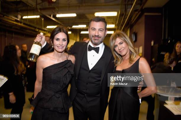 Courteney Cox Jimmy Kimmel and Jennifer Aniston attend the American Film Institute's 46th Life Achievement Award Gala Tribute to George Clooney at...