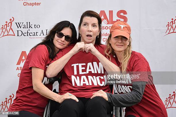 Courteney Cox Nanci Ryder and Renee Zellweger attend the The ALS Association Golden West Chapter Los Angeles County Walk To Defeat ALS at Exposition...
