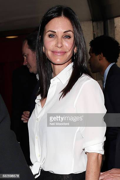 Courteney Cox seen arriving for the Ivor Novello Awards at Grosvenor House on May 19 2016 in London England
