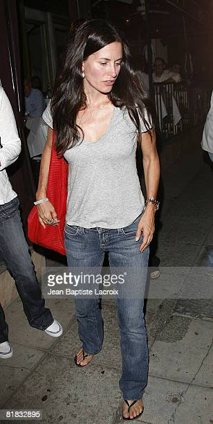Courteney Cox sighting on June 30 2008 in West Hollywood California
