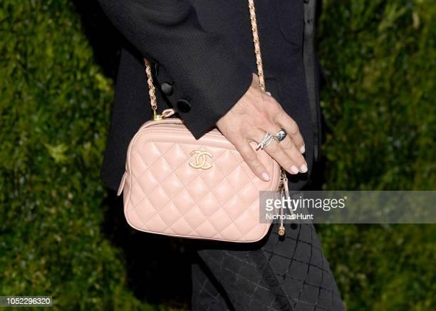 Courteney Cox wearing Chanel bag detail at Through Her Lens The Tribeca Chanel Women's Filmmaker Program Luncheon at Locanda Verde on October 16 2018...