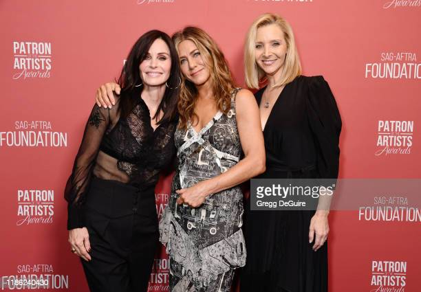 Courteney Cox winner of the 'Artists Inspiration Award' Jennifer Aniston and Lisa Kudrow attend SAGAFTRA Foundation's 4th Annual Patron of the...