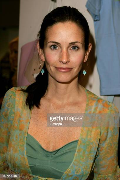 Courteney CoxArquette during People's Liberation Warner Bros Pictures and Kitson Celebrate Horror Thriller 'House Of Wax' Red Carpet and Inside in...