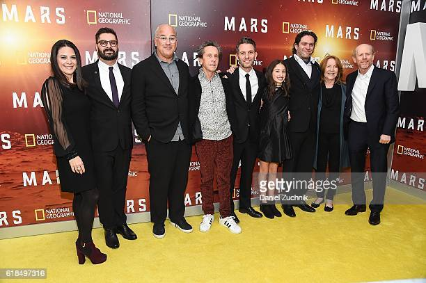 Courteney Monroe Brian Grazer and Ron Howard with crew attend the National Geographic Channel 'MARS' New York Premiere at the School of Visual Arts...