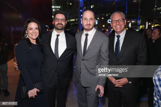 "Courteney Monroe Tim Pastore Darren Aronofsky and Gary Knell attend National Geographic's world premiere screening of ""One Strange Rock"" on Wednesday..."
