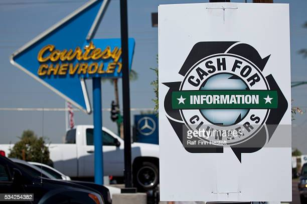 Courtesy Chevrolet In Phoenix Advertises The Federal Government S News Photo Getty Images