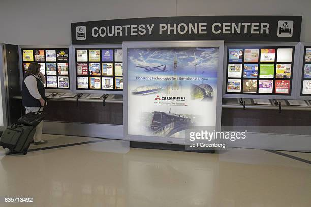 A courtesy phone center in the HartsfieldJackson Atlanta International Airport