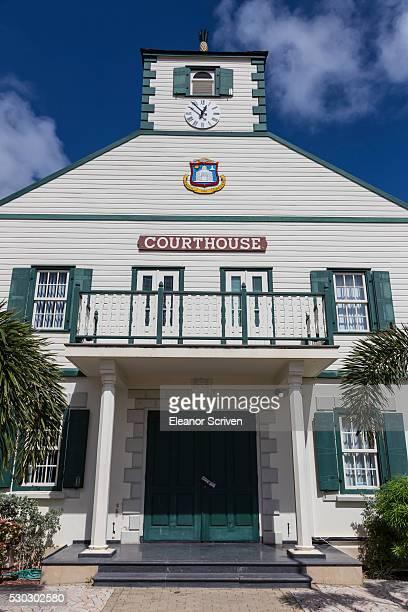 courthouse, philipsburg, st. maarten (st. martin), west indies, caribbean, central america - philipsburg sint maarten stockfoto's en -beelden