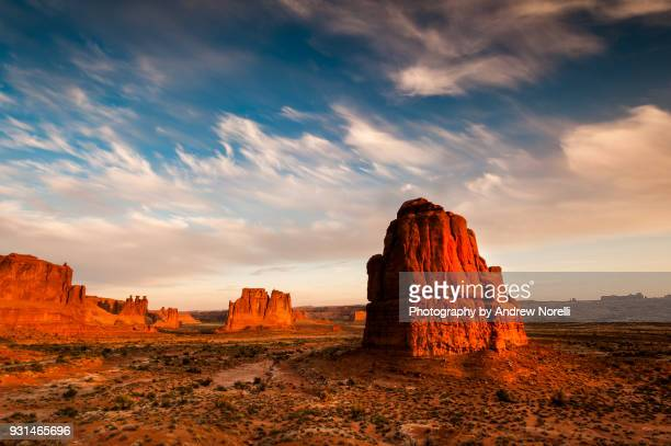 Courthouse Towers at Sunset, Arches National Park, Moab, UT